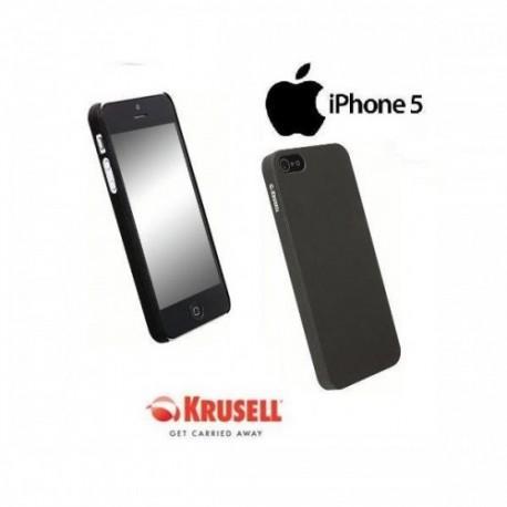Etui za Apple iPhone 5/5S Zadnji pokrovček Krusell ColorCover, črna barva
