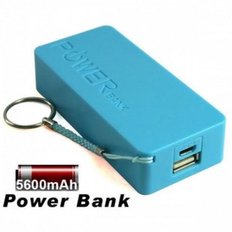 Prenosna Zunanja Baterija Power Bank 5600 mAh Univerzalna Modra barva