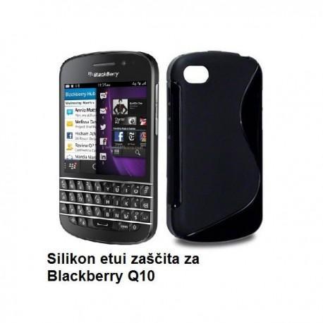 Silikon etui za Blackberry Q10, črna barva