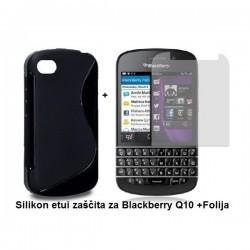 Silikon etui za Blackberry Q10 +Folija