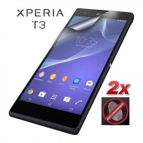 Zaščitna Folija ekrana za Sony Xperia T3,Anti Finger ,paket 2 v 1,Roxfit