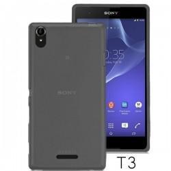 Silikon etui za Sony Xperia T3,prozorna siva barva+folija ekrana,Jekod