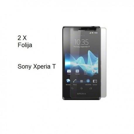 Zaščitna Folija za Sony Xperia T,paket 2 v 1
