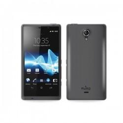 Silikon etui za Sony Xperia T,prozorna siva barva,Puro