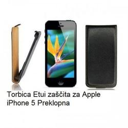 Etui za Apple iPhone 5 Preklopna, črna barva