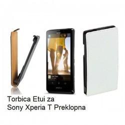 Torbica za Sony Xperia T,preklopna,bela barva