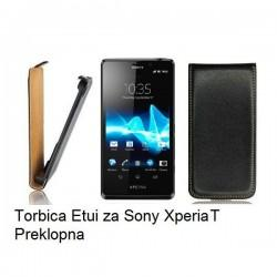 Torbica za Sony Xperia T,preklopna,črna barva