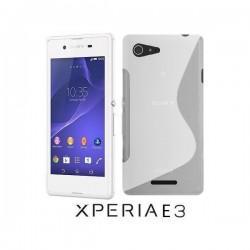 Silikon etui za Sony Xperia E3,prozorna mat bela barva,motiv S