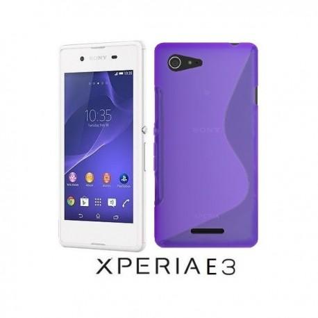 Silikon etui za Sony Xperia E3,vijola barva,motiv S