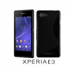 Silikon etui za Sony Xperia E3,črna barva,motiv S