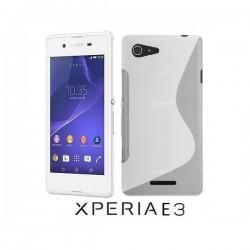 Silikon etui za Sony Xperia E3,bela barva,motiv S