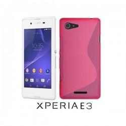 Silikon etui za Sony Xperia E3,pink barva,motiv S