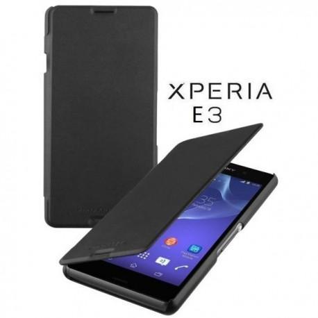 Torbica za Sony Xperia E3,preklopna,črna barva,Roxfit