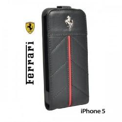 Etui za Apple iPhone 5 Ferrari California Flip, črna barva