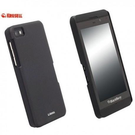 Etui za Blackberry Z10 Zadnji pokrovček Krusell ColorCover, črne barve