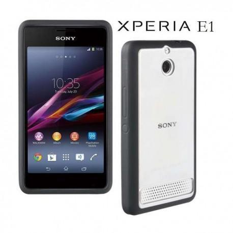 Etui za Sony Xperia E1,E1 Dual,črna/prozorna barva,Roxfit