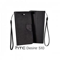 Preklopna Torbica za HTC Desire 510 Črna barva