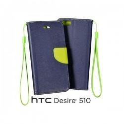 Preklopna Torbica za HTC Desire 510 Modra barva