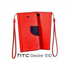 Preklopna Torbica za HTC Desire 510 Rdeča barva
