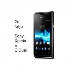 Zaščitna folija ekrana za Sony Xperia E,E Dual,paket 2 v 1