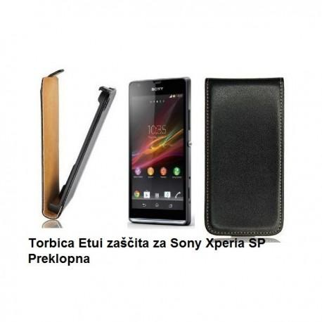Torbica za Sony Xperia SP,preklopna,črna barva