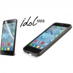 Silikon etui za Alcatel One Touch Idol Mini +Folija ekrana Temna barva