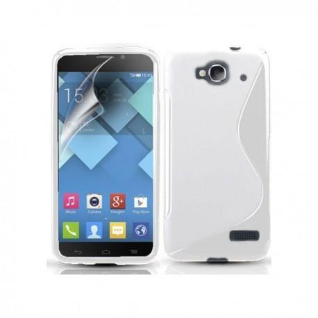 Silikon etui za Alcatel One Touch Idol Mini +Folija ekrana Bela barva
