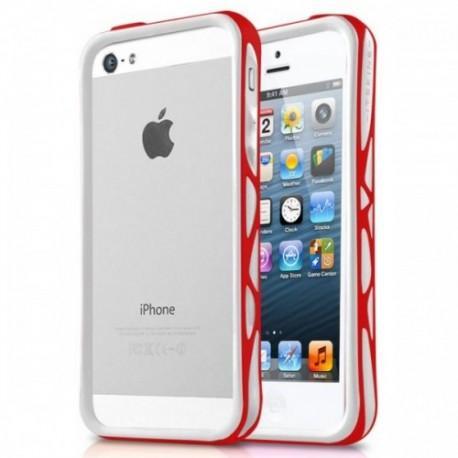 Bumper Military Grade za Apple iPhone 5,5S ,+ folija Bela-Rdeča barva