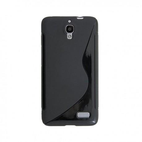 Silikon etui za Alcatel One Touch Idol Črna barva