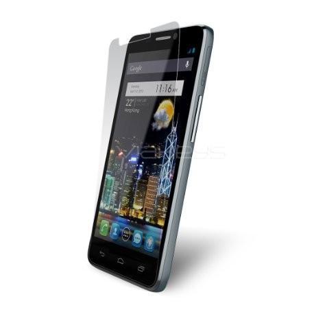 Silikon etui za Alcatel One Touch Idol Ultra +Folija ekrana, transparent temna