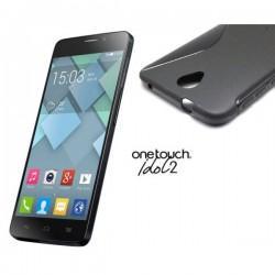 Silikon etui za Alcatel One Touch Idol 2 Črna barva