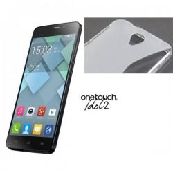 Silikon etui za Alcatel One Touch Idol 2 Transparent barva
