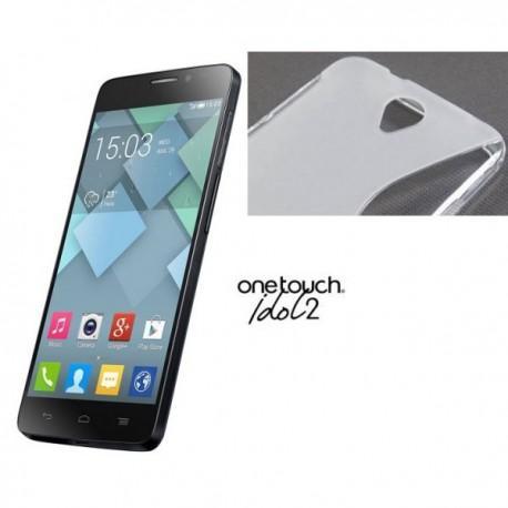 Silikon etui za Alcatel One Touch Idol 2 Transparent barva