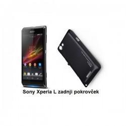 Etui za Sony Xperia L,zadnji pokrovček,črna barva