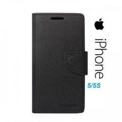 Torbica za Apple iPhone 5,5S preklopna ,Črna barva