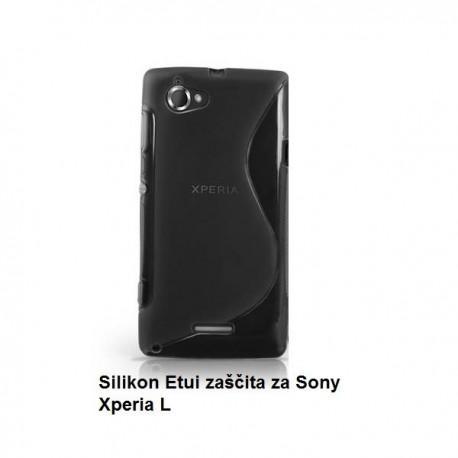 Silikon Etui za Sony Xperia L,črna barva,motiv S