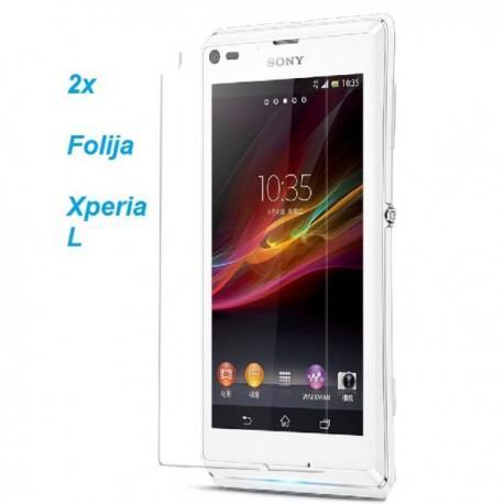 Zaščitna folija ekrana za Sony Xperia L,paket 2 v 1