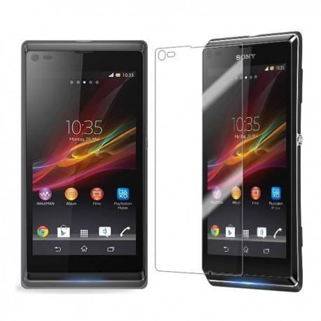 Silikon etui za Sony Xperia L,prozorna siva barva+folija ekrana,Jekod