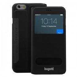 Preklopna Torbica za Apple iPhone 6 (4.7) Bugatti S-View Črna barva