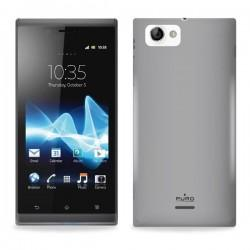 Silikon etui za Sony Xperia J,prozorna siva barva,Puro