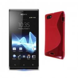 Silikon etui za Sony Xperia J,pink barva,motiv S