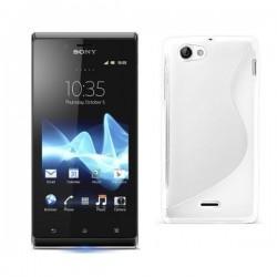 Silikon etui za Sony Xperia J,bela barva,motiv S