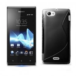 Silikon etui za Sony Xperia J,črna barva,motiv S