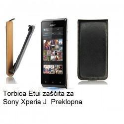 Torbica za Sony Xperia J,preklopna,črna barva
