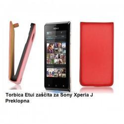 Torbica za Sony Xperia J,preklopna,rdeča barva