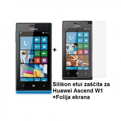 Silikon etui zaščita za Huawei Ascend W1 +Folija ekrana