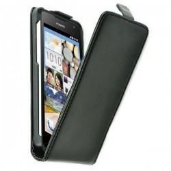 Preklopna torbica za Huawei Ascend Y330 + folija ekrana Črna barva