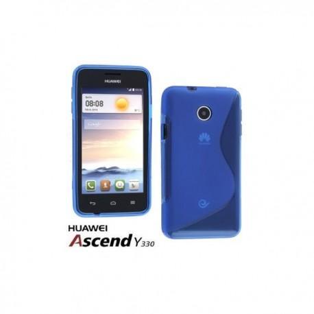 Silikon etui za Huawei Ascend Y330 +Folija ekrana Modra barva
