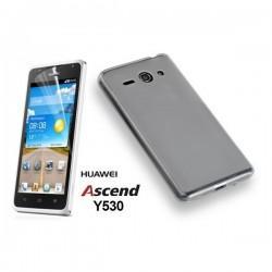 Silikon etui za Huawei Ascend Y530 Temna barva+folija ekrana