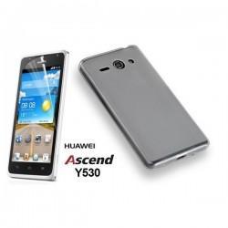 Silikon etui za Huawei Ascend Y530 Bela mat barva+folija ekrana